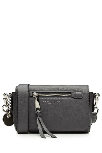 cross mini bag leather grey