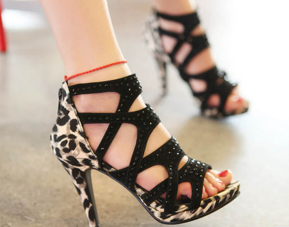 shoes fashion pumps high heels pump leopard print high heels, black, gold, sandals, sneakers, white, gold