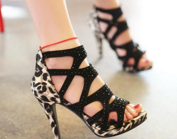 654d86c6b5f shoes pumps pumps leopard print high heels fashion sandals sneakers