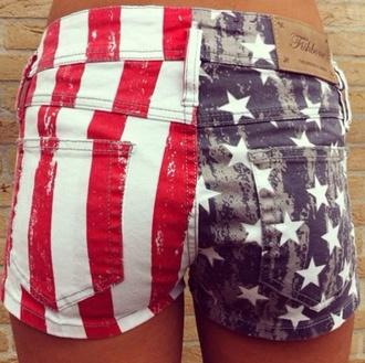shorts usa flag american flag shorts