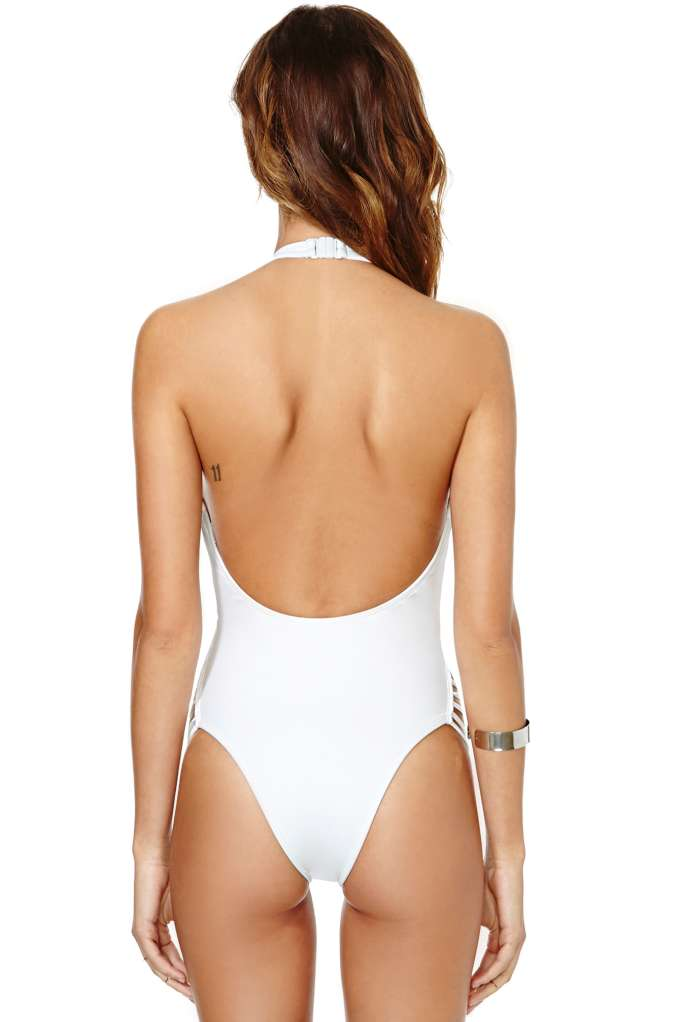 Nasty Gal Sunstreak Swimsuit - White at Nasty Gal
