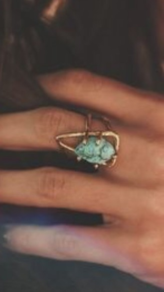 jewels triangle ring turquoise gold