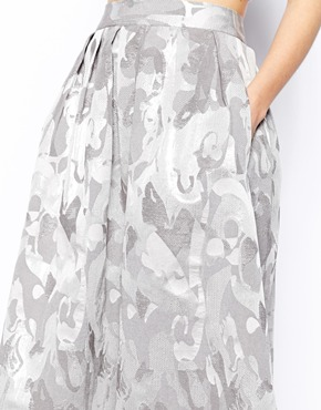 ASOS | ASOS Midi Skirt In Camo Jacquard at ASOS