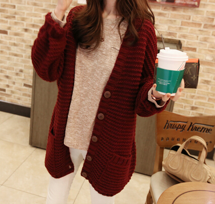 Chunky knit cardigan with front pockets from doublelw on storenvy