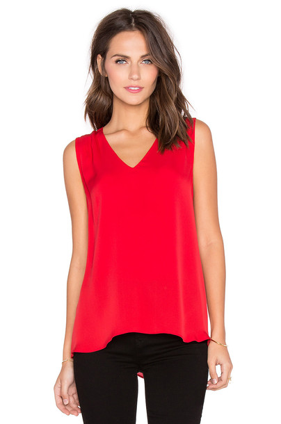 Diane Von Furstenberg top red