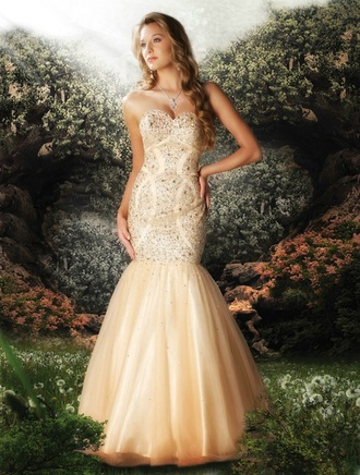 dress prom dress mermaid prom dresses ivory dress