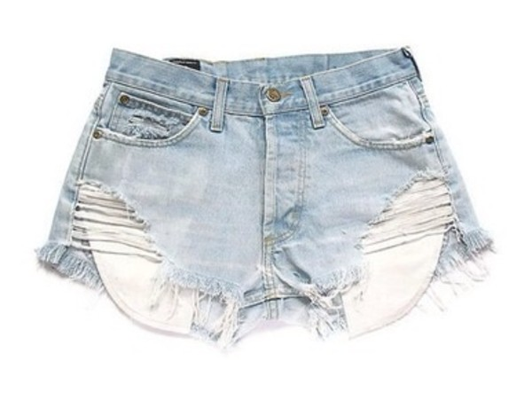 shorts High waisted shorts jeans light blue
