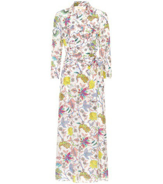 Diane Von Furstenberg dress printed dress floral cotton silk