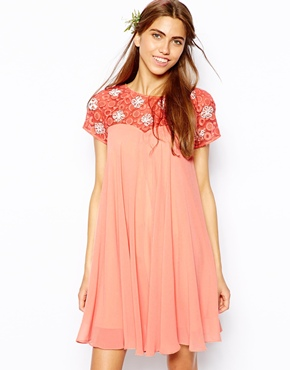River Island | River Island Beaded Babydoll Dress at ASOS