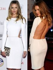 dress,white,backless,open back,leopard print,clutch,model,victoria's secret,back cut out,rosie huntington-whiteley