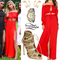 Hailey baldwin: red crop top & maxi skirt | steal her style