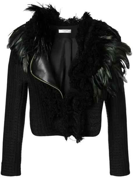 lanvin jacket women cotton black