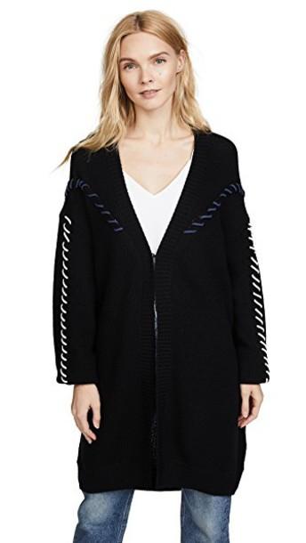 Jonathan Simkhai cardigan oversized cardigan cardigan oversized wool knit black sweater