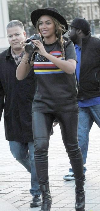 t-shirt top beyoncé givenchy boots
