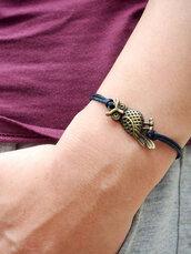 jewels,bracelets,owl,leather,bracelet leather