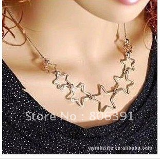 Aliexpress.com : Buy free shipping 10pcs/lot hollow star style necklace/ fashion design necklace from Reliable designer heart necklace suppliers on Skyejason Super Store