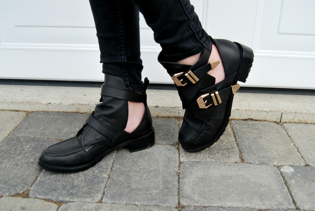 Metal Buckle Cut Out Boots | Choies