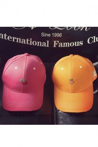 hat girl girly girly wishlist fruits cap pink orange