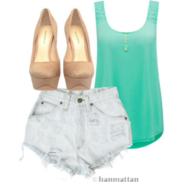 shorts look lovely t-shirt casual