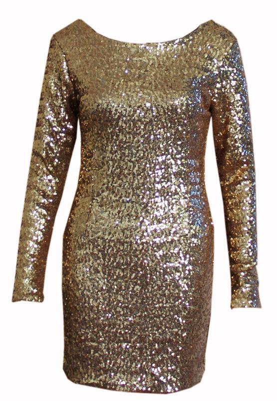 Shining back sequins cute dress