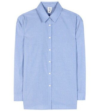 shirt cotton blue top