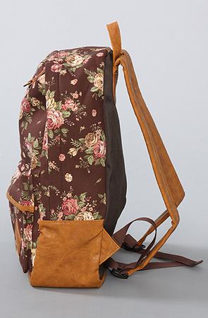 *karmaloop accessories boutique the flower printed backpack in brown