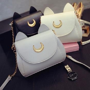 9f50b41968 MIni Limited Sailor Moon Bag Ladies Handbag Black White Cat Luna Moon Women  Messenger Crossbody Bag-inCrossbody Bags from Luggage & Bags on ...