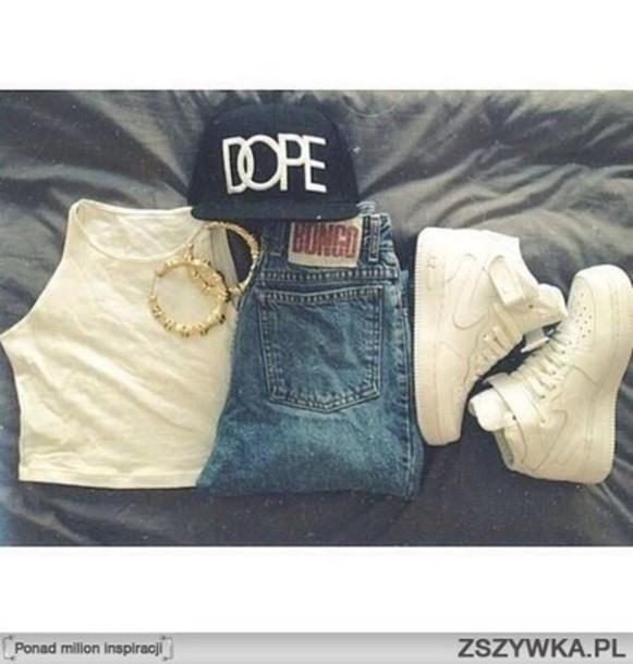 shirt dope hats dope cap white crop tops