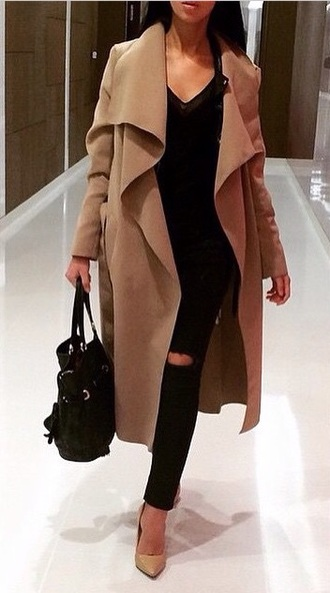 coat elegant swag dope winter swag blouse