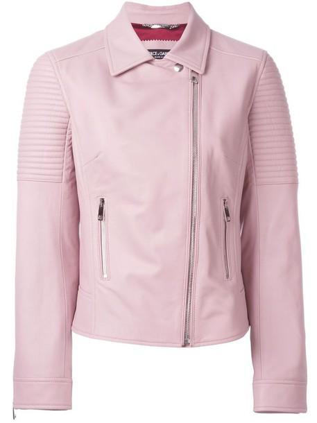 Dolce & Gabbana jacket biker jacket purple pink