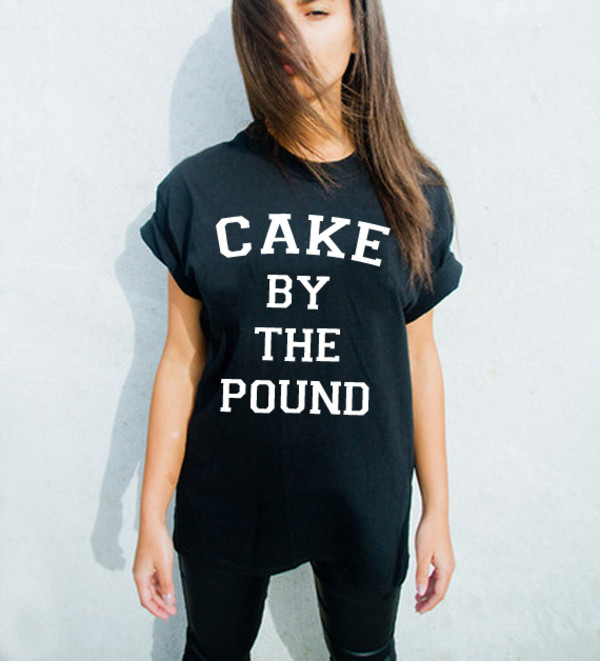 t-shirt cake by the pound cute top fashion tops cake beyoncé shirt beyonce statement tees graphic tee graphic tee graphic tee trendy crewnecks on the run tour