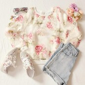 sweatshirt,trendy,sweater,rose,white,green,flowers,pullover,amazing,outfit,roses