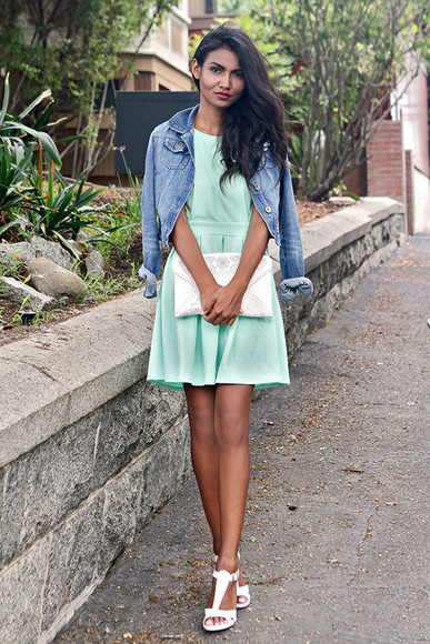 shoes mint dress jacket bag tuolomee denim jacket