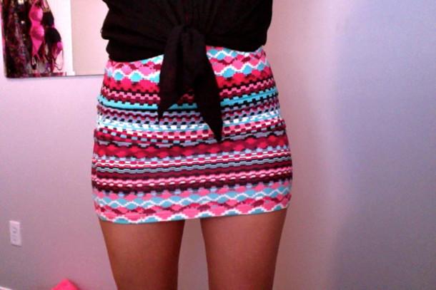 skirt aztec pencil skirt tribal pattern