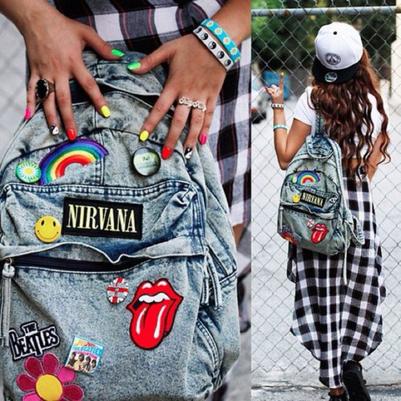 nirvana grunge bag skirt
