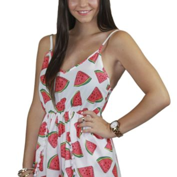 Watermelon Crush Playsuit on Wanelo