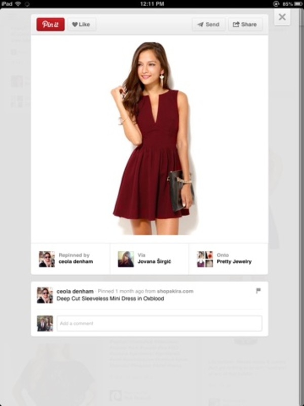 dress red red dress burgundy dark red v neck skater skater dress party