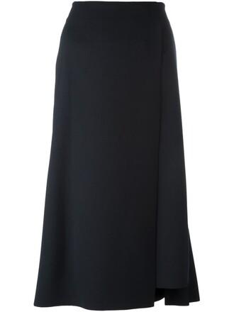 skirt pleated back blue