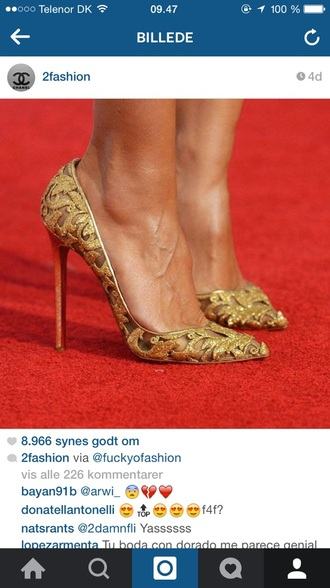 shoes pumps heels high-heels court shoes gold heels louboutin fashion red carpet high heels fashion shoes women