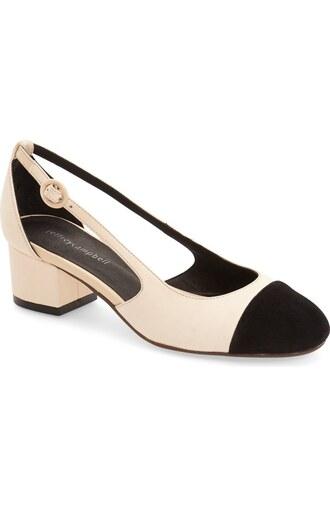 shoes beige shoes mid heel pumps