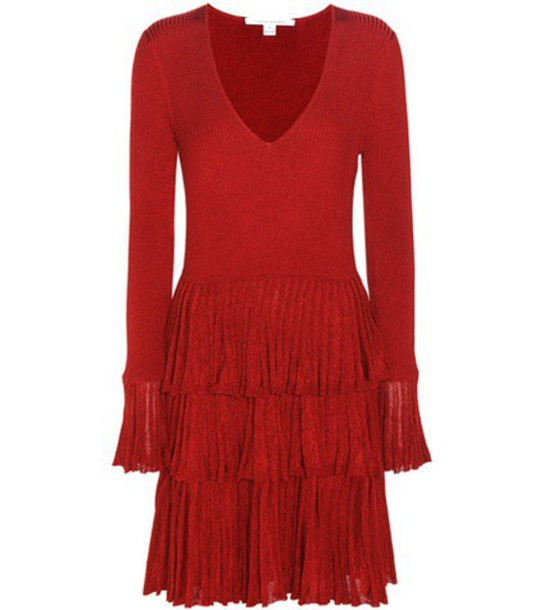 dress wool red
