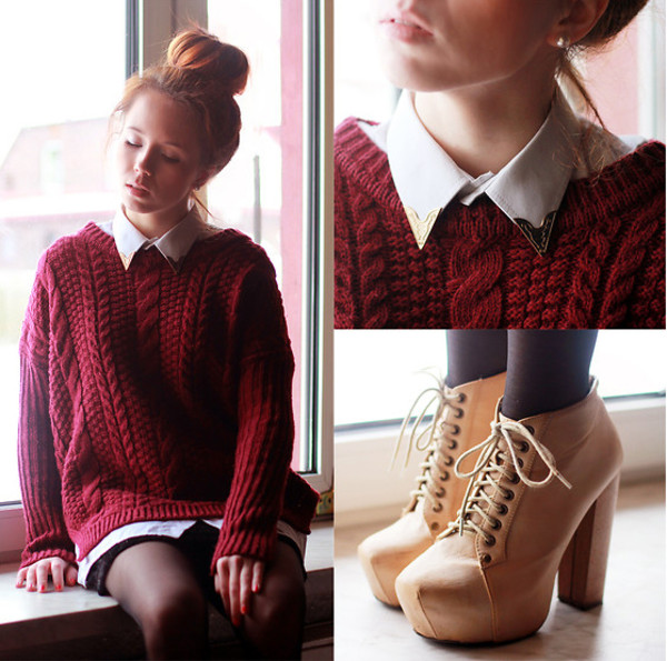 blouse ankle boots winter sweater sweater shoes shorts