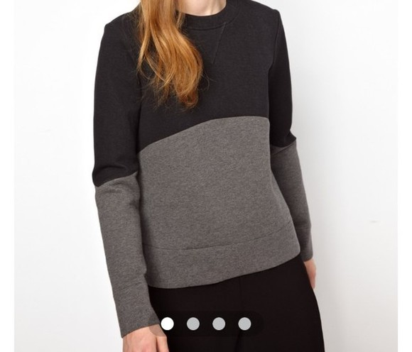 asos black sweater top pull black sweater grey