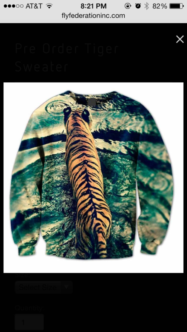 sweater tiger sweatshirt