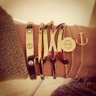jewels initial bracelet initial bracelets screwbracelet