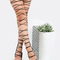 Lace up snake thigh high heels black -shein(sheinside)