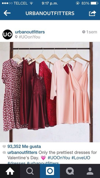 dress dresses pink red