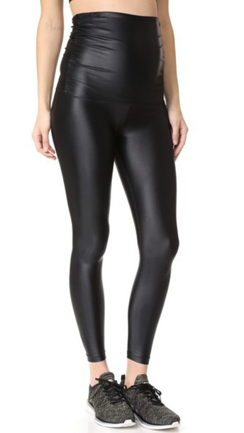 KORAL ACTIVEWEAR Lustrous Maternity Leggings in black