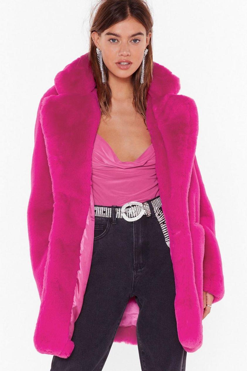 Surfin' Bird Faux Fur Coat Promotions