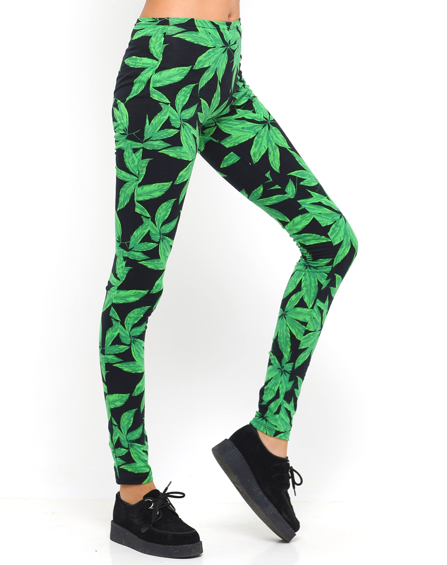 Buy Motel Printed Legging in Multicoloured Forest Print at Motel Rocks